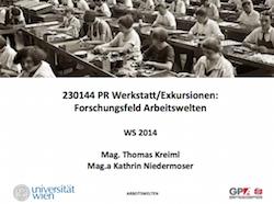 Auftakt Arbeitswelten WS 2014-2015